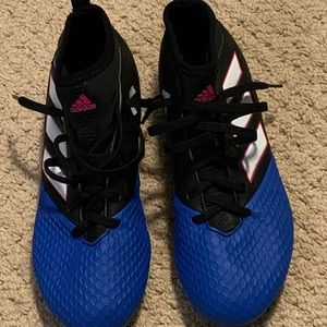 Boy's Adidas Hi-Cut Soccer Shoes